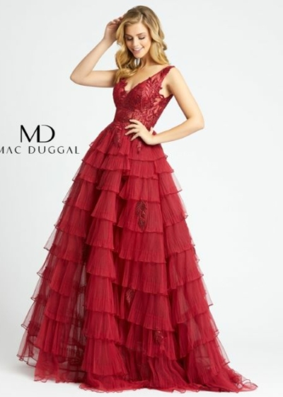 Mac Duggal 20136D red Long Gown
