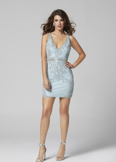 Primavera homecoming dress in light blue style 3312