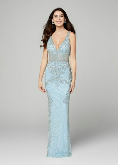 Primavera prom dress in powder blue style 3425