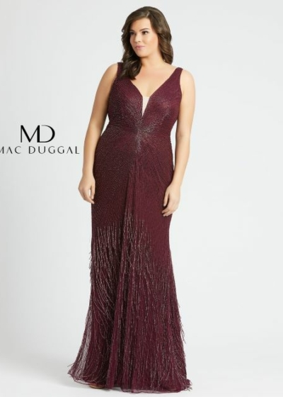 Mac Duggal plus size 4847F purple colored gown