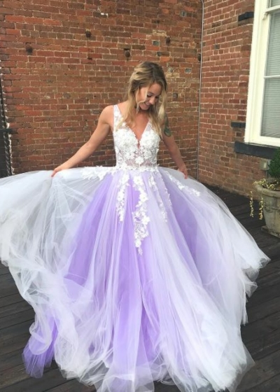 Jovani 55634 lilac ball gown