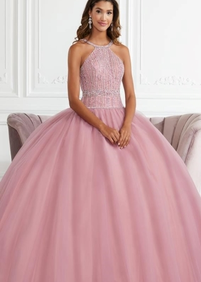 Quinceanera Gown House of Wu in mauve pink