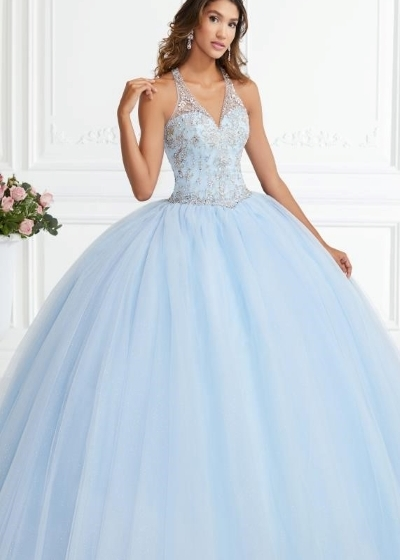Quinceanera Gown House of Wu in light blue