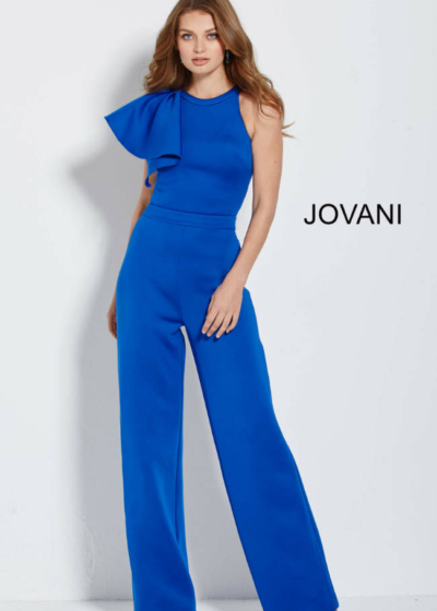 Jovani Pant Suit scaled in royal blue style 57580