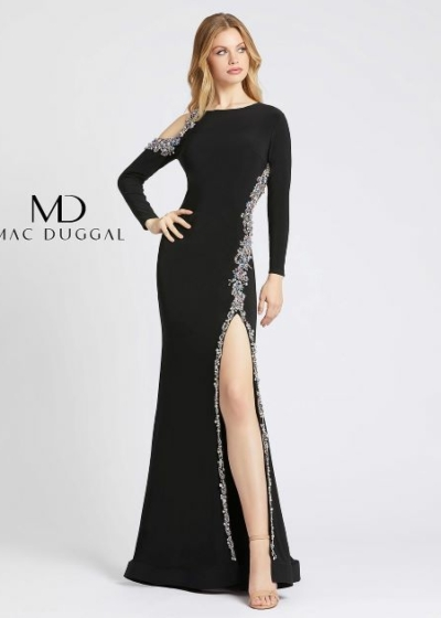 Mac Duggal prom dress in black style 66769A