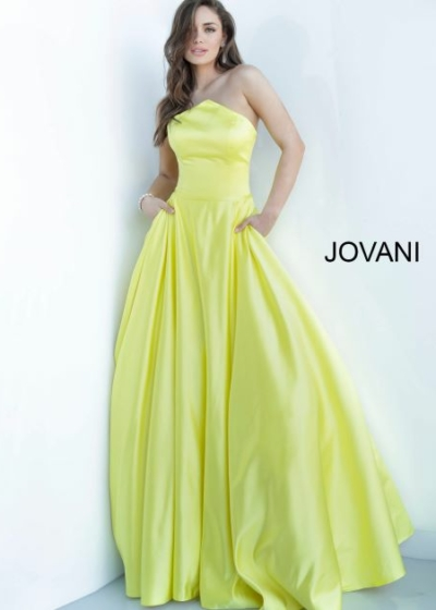 Jovani 68993 yellow ball gown