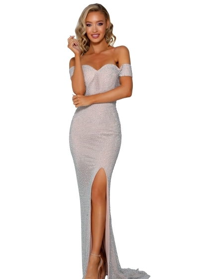 Portia and Scarlett Gown in nude style PS6335