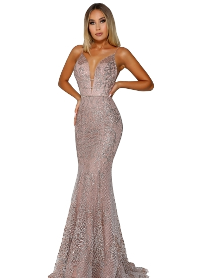 Portia and Scarlett Gown in rose gold style PS6383