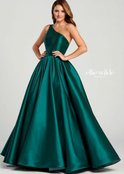 Ellie Wilde EW120033 emerald gown